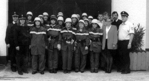 Damenlöschgruppen der FF Schwarzenthonhausen 1998